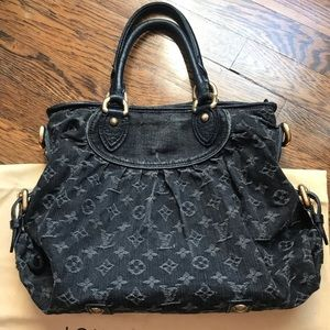 Louis Vuitton Bags - Authentic Louis Vuitton Cabby Black neo denim bag